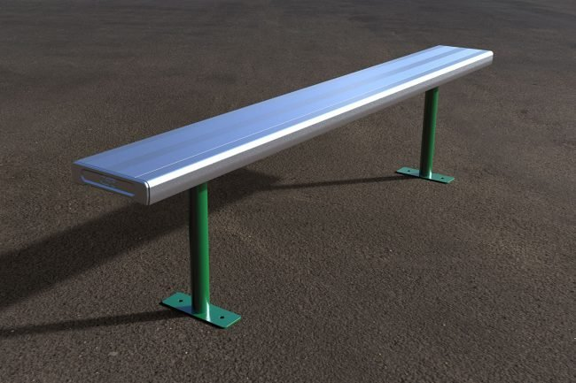 AL1001-Aluminium Bench with Powder Coated Frame
