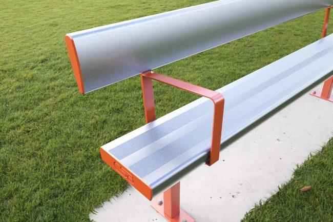 With Arm Rests, Powder coated Orange X15