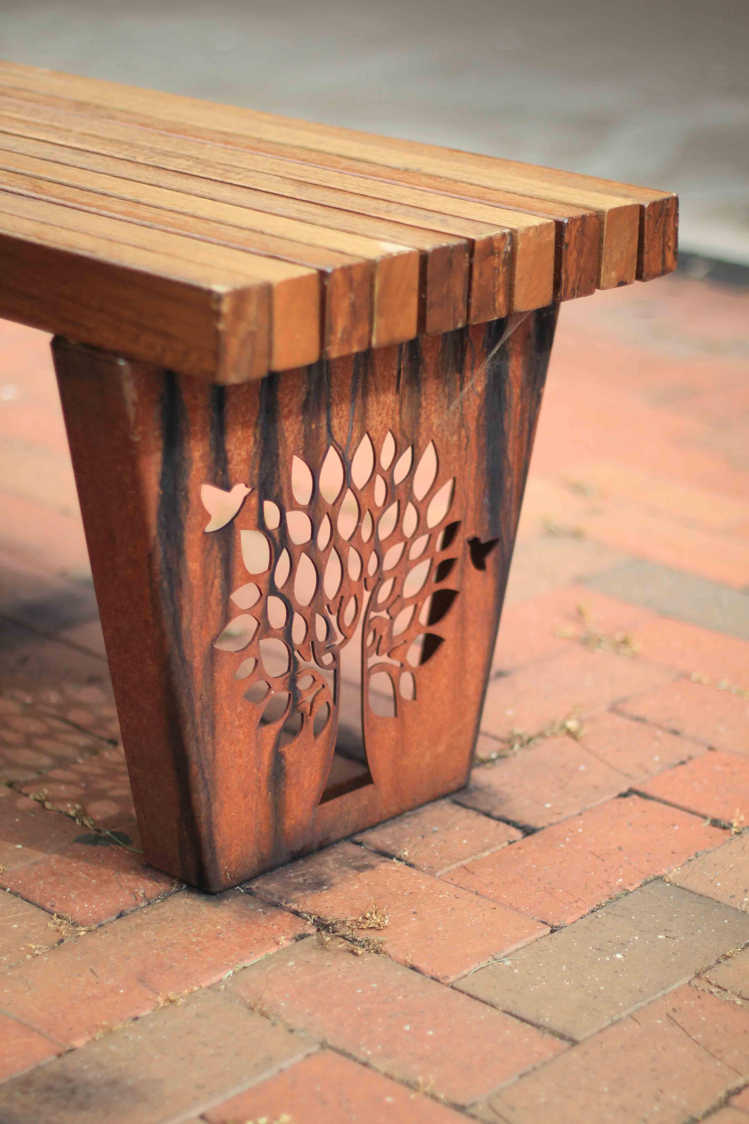 TM4550 (Rustic Corten frame, Australian hardwood timber)