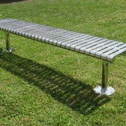 Steel Slat Bench