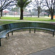 Curved Steel Seat