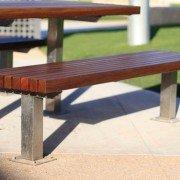 Vertical Slat Bench