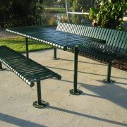 Steel Slat Setting with Seats