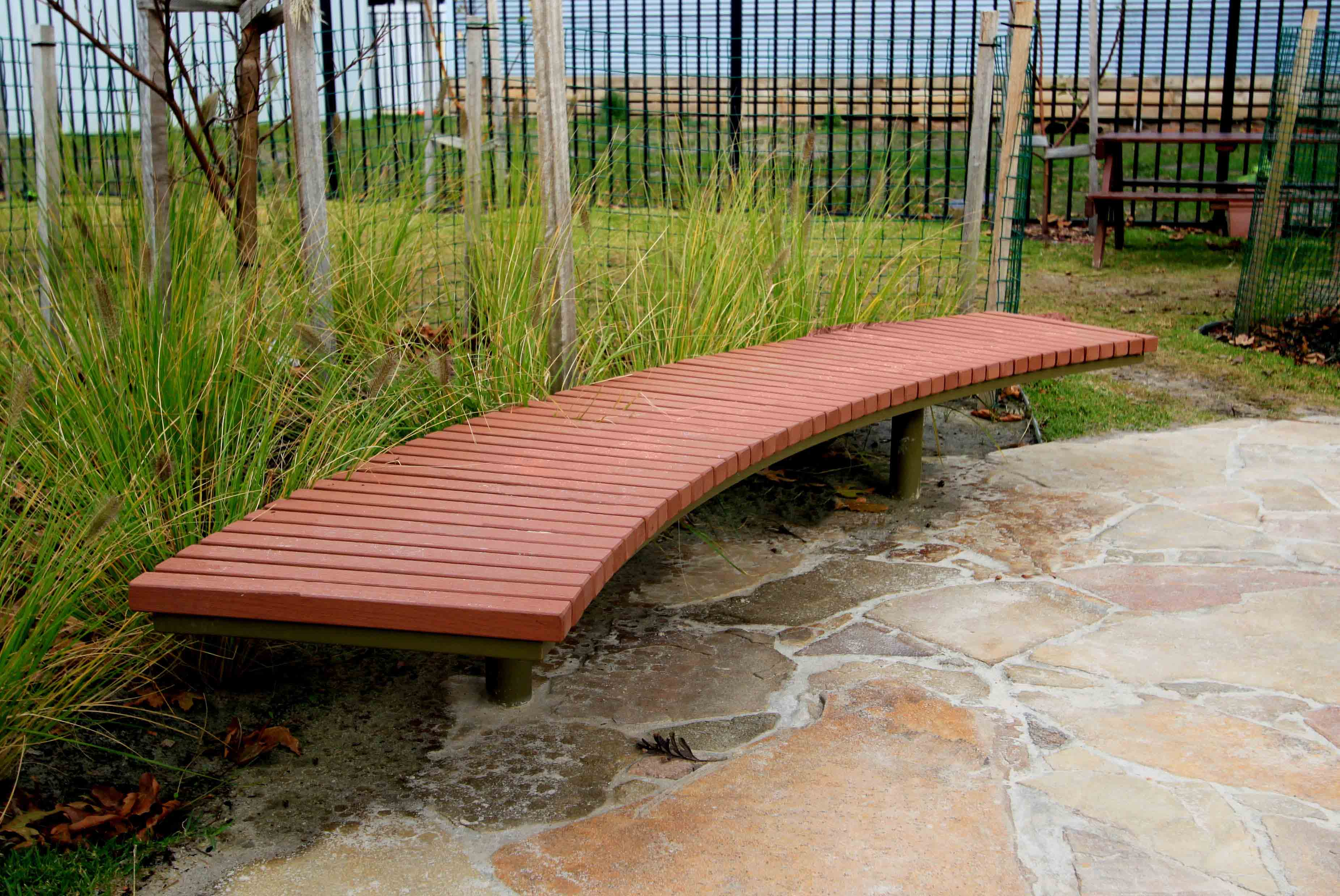 Picture of: Berwick Curved Bench Commercial Systems Australia