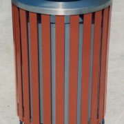 Steel Slat Litter Receptacle