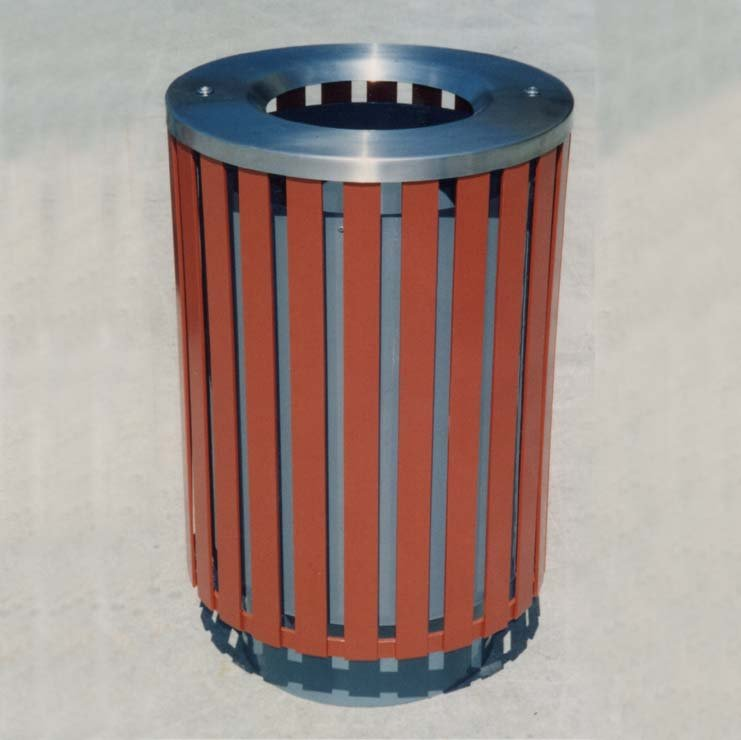 LR6103 Steel Slat Litter Receptacle Thumbnail