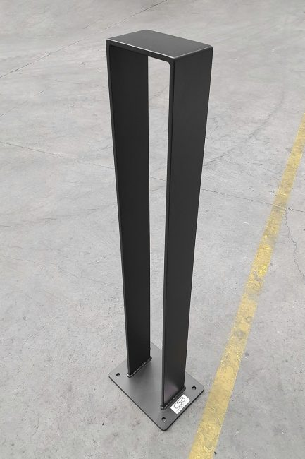 Vivid Bollard Powder coated Black Satin