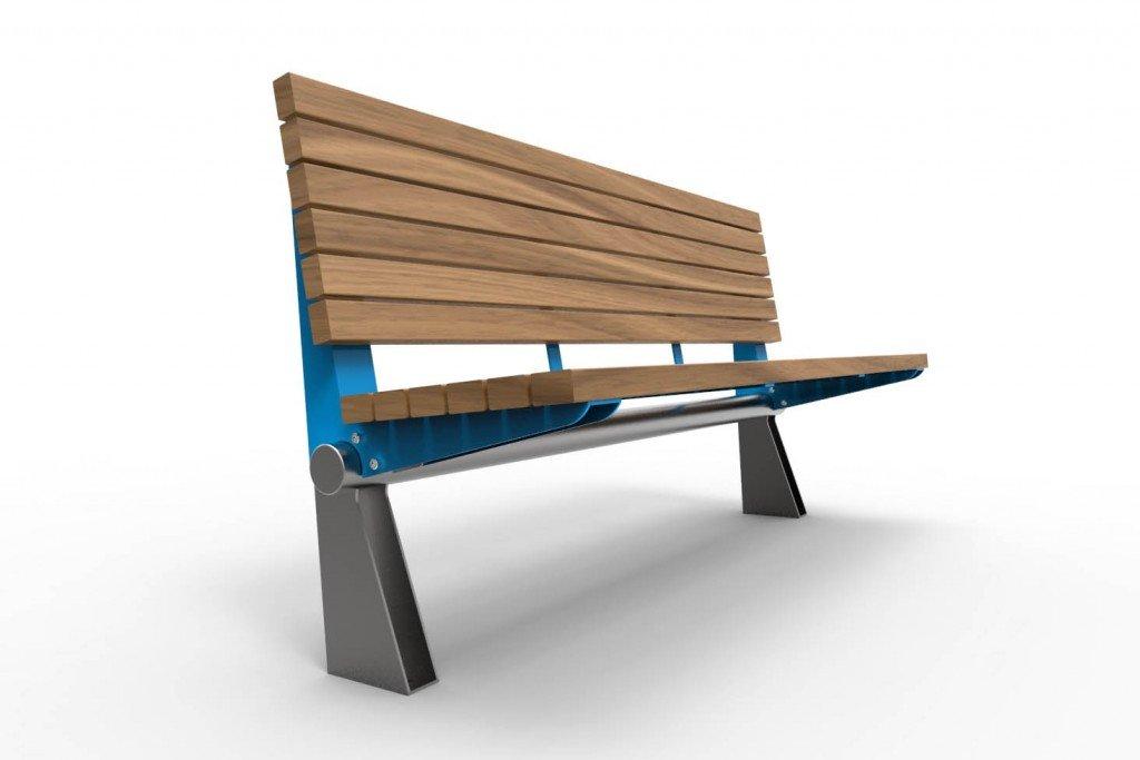 TM4610 (Powdercoated frame and stainless steel legs, Australian hardwood timber)