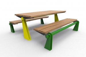TM4612-11 Vivid Setting (Powdercoated frame and legs, Australian hardwood timber)