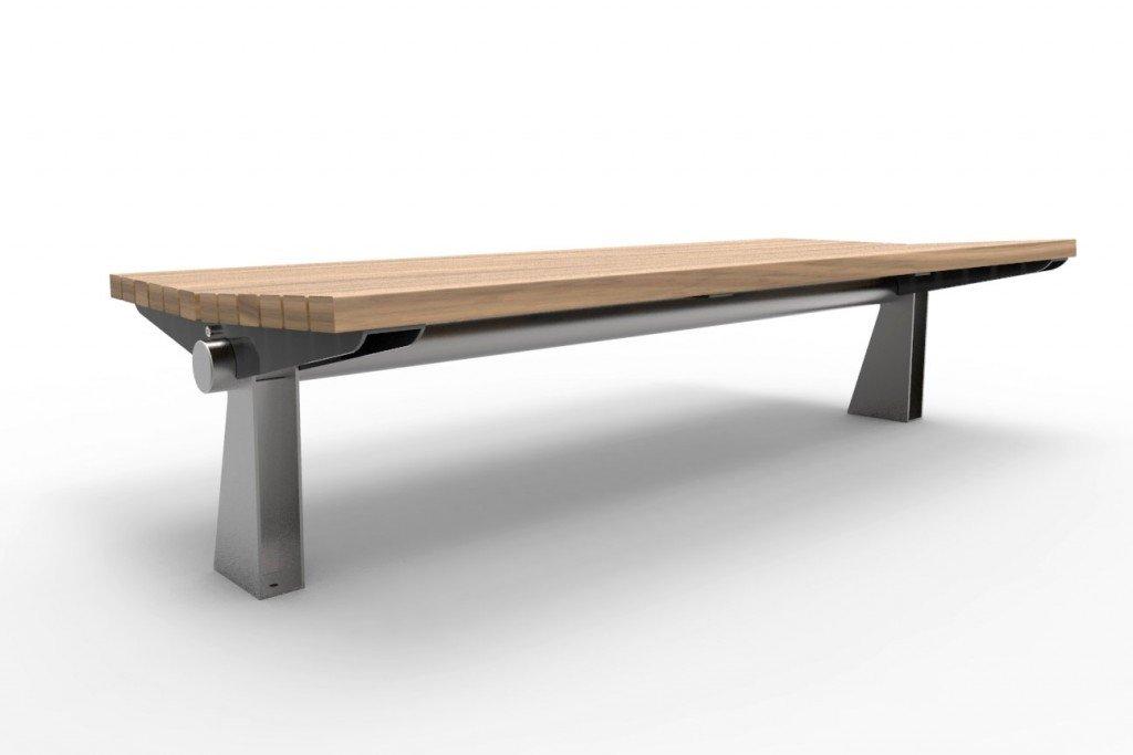 TM4613 (Stainless steel frame and legs, Australian hardwood timber)
