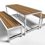 Cafe Stainless Steel Picnic Setting