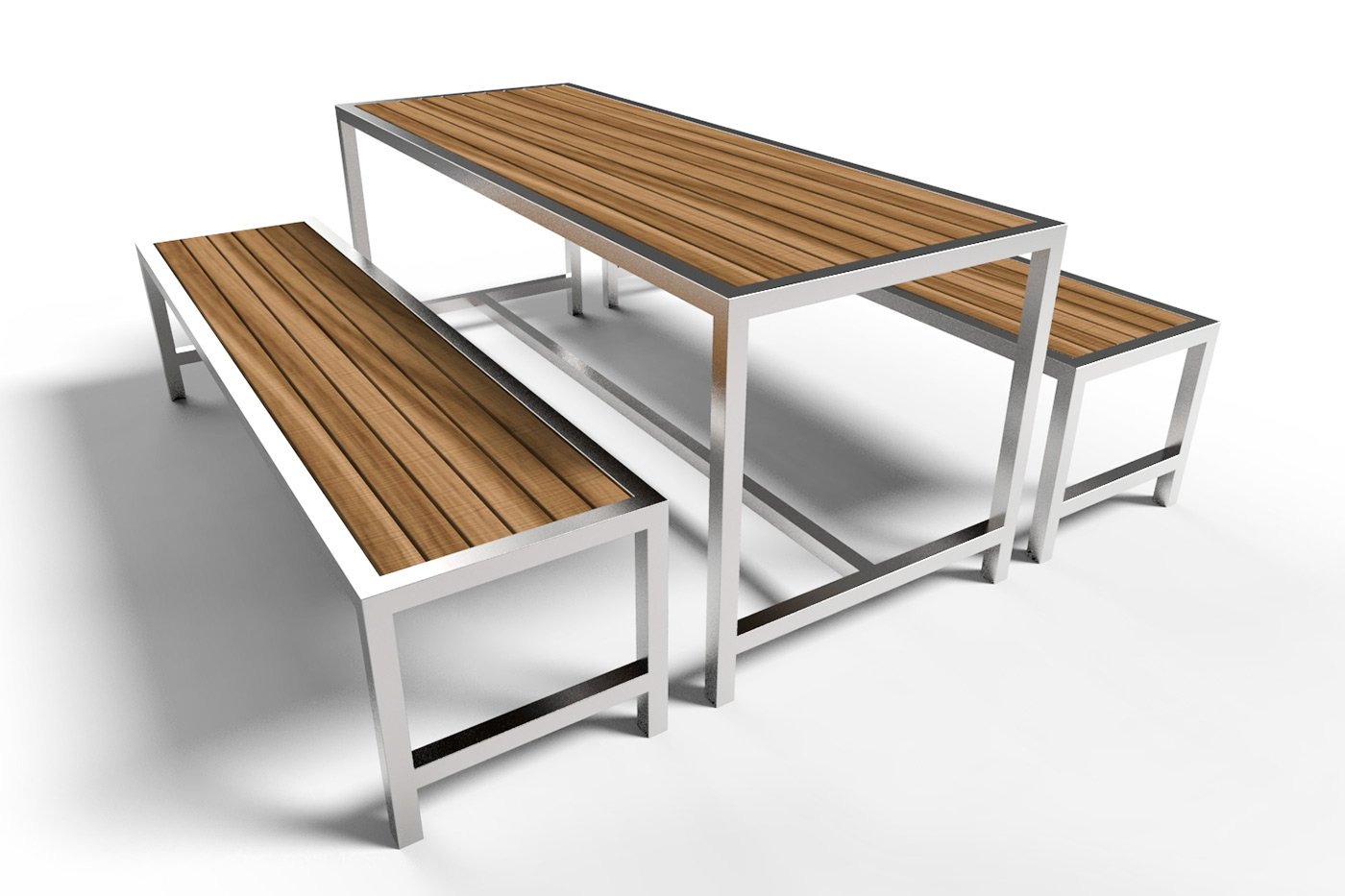 Cafe Stainless Steel Picnic Setting Commercial Systems Australia - Stainless steel picnic table