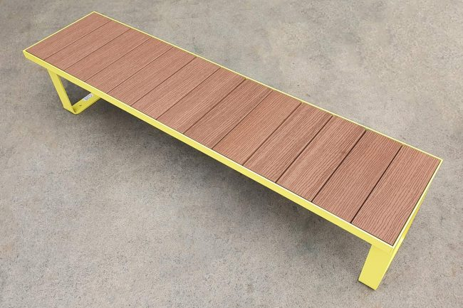 Powdercoated Yellow with Enviroslat battens